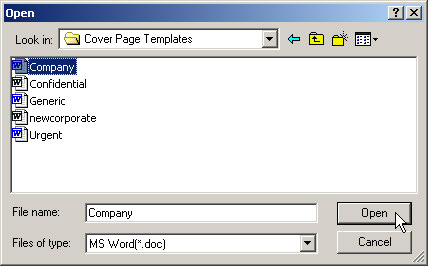 Creating cover pages with microsoft word browse to and select the file name of your new custom cover page template companyc in this example maxwellsz
