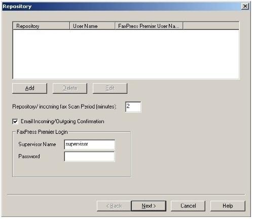 Configuring the FaxPress Xerox Inteface